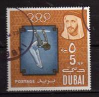 Dubai ° - 1964 - Jeux Olympiques De Tokyo. Yvert,  47  Gommé Oblitéré.   Vedi Descrizione - Dubai