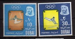 Dubai ** - 1964 - Jeux Olympiques De Tokyo. Yvert, 48- 50  NEUF.   Vedi Descrizione - Dubai