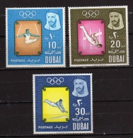 Dubai ** - 1964 - Jeux Olympiques De Tokyo. Yvert, 48-49- 50  NEUF.   Vedi Descrizione - Dubai