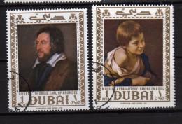 Dubai ° - 1967 -  Tableau De Murillo Et Rubens. Yvert, 92-92B, Gommé Oblitéré.   Vedi Descrizione - Dubai
