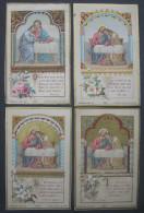 4 IMAGES PIEUSES Bouasse PL 3368 (chromo Fin XIXème) L´EUCHARISTIE - JESUS ET SAINT JEAN Textes Differents  / SANTINO - Andachtsbilder