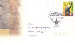 17C : Australia 18th Australian Jamboree Scout Pictorial Cancel, Dinosaur Stamp Used Cover - 2010-... Elizabeth II
