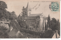 76A124 CPA 76 - GRAVILLE  L'EGLISE SANTE HONORINE    1905 - Francia