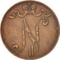 Finlande, Nicolas II, 5 Pennia 1908, KM 15 - Finlande