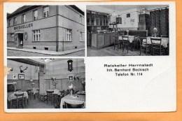 Herrnstadt Wasosz Ratskeller 1930 Postcard - Pologne