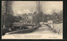 CPA Saint-Romans-les-Melle, La Lavoir Et Vie Générale De La Garenne - Melle