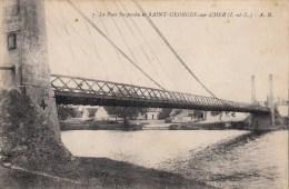 Cpa Ak Pk 2 Scans 41 LOIR ET CHER, Saint Georges Sur Cher, Le Pont Sur Le Cher - Autres Communes
