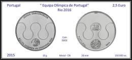 PORTUGAL - 2015 - 2,5 € ( Euro ) - UNC.- Olimpic Games BRASIL 2016 - Joana De Vascocelos - Portugal
