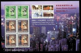 Hong Kong 1997 Classics Stamps S/s No 7 - Stamps On Stamps Electricity QEII - 1997-... Chinese Admnistrative Region