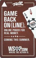 Rio Casino Las Vegas WSOP.COM Hotel Room Key Card - Hotel Keycards