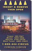 Circus Circus Casino Las Vegas Hotel Room Key Card - Hotel Keycards