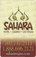 Sahara Casino Las Vegas Hotel Room Key Card - Hotel Keycards