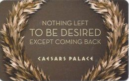 Caesars Palace Casino Las Vegas Hotel Room Key Card With C-4146042 - Hotel Keycards