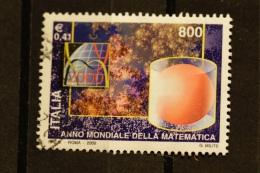 ITALIA USATI 2000 - ANNO MONDIALE DELLA MATEMATICA - RIF. G 1703 LUSSO - 6. 1946-.. Repubblica