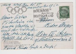 OY171 / Amtliche Olympia  Foto-Werbekarte 1936 Mit Passendem Stempel Und Bild