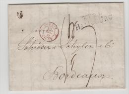 Ham002 / TTR 4 Hamburg 1839 Nach Frankreich. Voller Textinhalt
