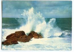 Effet De Vague Par Gros Temps - Tempête Sur L'océan - écrite Et Timbrée - 2 Scans - Bretagne