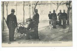 MCS2- MONACO    Les Carabiniers - Exercice De Canon - Très Rare- Au Vs Pub. Select Restaurant - Monaco