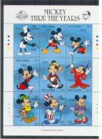 Myh107b WALT DISNEY MICKEY THRU THE YEARS GAMBIA 1989 PF/MNH # - Disney
