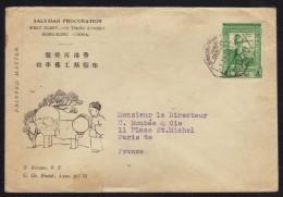 MACAU - MACAO - PORTUGAL / 1939 TARIF IMPRIMES SUR LETTRE POUR LA FRANCE (ref 4521) - Macao