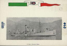 FASCISMO MARINA MILITARE ITALIANA REGIA NAVE CANNONIERA GIOVANNI BERTA 1940 - Guerra