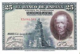 Spain - Pick 74 - 25 Pesetas 1928 - Unc - [ 1] …-1931 : Prime Banconote (Banco De España)