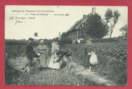 Scènes De Douane à Le Frontière Franco-belge - Visite De Femmes - 1912 ( Voir Verso ) - Douane