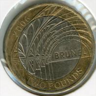 Grande Bretagne Great Britain 2 Pounds 2006 Gare De Paddington - Brunel KM 1061 - 1971-… : Monnaies Décimales