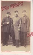 CDV XIX ème Siècle Photographe Blanchard Tarbes Groupe Sous-officiers Médaille Méritime Militaire Et Crimée * - Antiche (ante 1900)