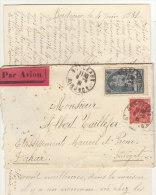 EAC/Avion 3F50 Cad Bordeaux Gironde -> Sénégal  1931 - Storia Postale