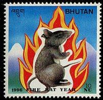 (cl. 2 - P.36) Bhoutan ** Tbre Du Bloc N° 341 (ref. Michel Au Dos) - Année Lunaire Du Rat - - Bhutan