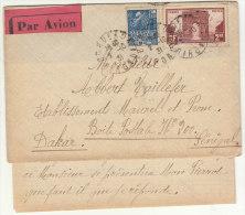 EAC/Avion 3F50 Cad Bordeaux Gironde -> Sénégal 1931 - Marcophilie (Lettres)