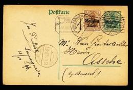 BRIEFKAART  - DUITSE CONTROLE STEMPEL ANTWERPEN     1916