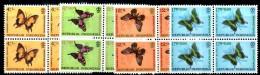 U104 - INDONESIA  , Papillons Farfalle   Yvert Serie 359/362 Quartine Ripiegate ***  MNH Integre - Indonesia