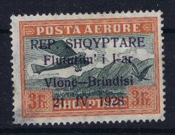 Albania:  Mi  Nr  168 MH/* Airmail Has A Thin Left Bottom Corner - Albania