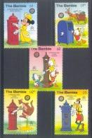Msl262 WALT DISNEY BRIEVENBUSSEN HOND GOOFY KANGOEROE KANGAROO DOG PLUTO MAILBOXES GAMBIA 1986 PF/MNH - Disney