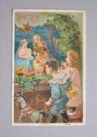 Cartolina/postcard In Rilievo BUON NATALE (presepe) Primi´900 - Christmas
