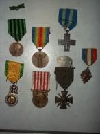 Lot De 7 Médailles Militaire - France