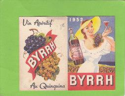 THUIR  - BYRRH - Calendrier 1952 - Belle PUB - France