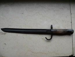 Baionnette Anglaise 1907 Quillon Non Recoupé.Lame Racourcie Régimentée - Knives/Swords
