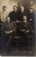 CARTE PHOTO CHATELET 6 HOMMES 12.11.1918 - Châtelet