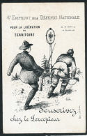GUERRE 1914-18 - Carte De Souscription Au 4ème EMPRUNT DE LA DEFENSE NATIONALE Pour La Libération Du Territoire - Guerre 1914-18