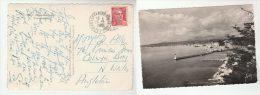 1947 FRANCE Stamps COVER   (postcard Nice, Alpes Maritime) - France