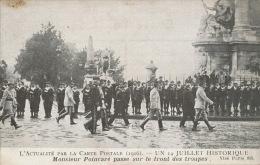 GUERRE 1914-18 - L'ACTUALITÉ PAR LA CARTE POSTALE (1916) - Un 14 Juillet Historique - M. POINCARÉ Passe Sur Le Front ... - Oorlog 1914-18