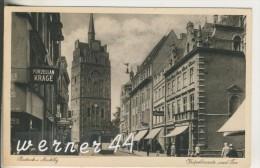 Rostock V.1931 Kröpelinerstrasse,Porzellan Krage,Mignon,Friseur,Gasthaus  (16210) - Rostock