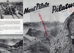 SUISSE - DEPLIANT TOURISTIQUE MONT PILATE - PILATUS- 1939- LUCERN- LUZERN- - Dépliants Touristiques