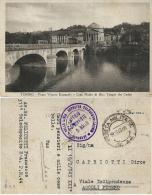 CARTOLINA ILLUS TORINO POSTA MILITARE 44 1943 TUNISIA AERONAUTICA LIBIA X ASCOLI - Militärpost (MP)