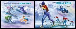 CENTRAL AFRICA 2013 - Pre-Olympics Sochi - YT 2638-41 + BF521; CV = 32 € - Centraal-Afrikaanse Republiek