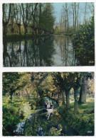 Marais Poitevin--Venise Verte---Lot De 4 Cartes Dont 2 Animées--paysages,barques Avec Animation - Sonstige Gemeinden