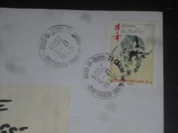 CHALON SUR SAONE REPUBLIQUE - SAONE ET LOIRE - CACHET ROND MANUEL SUR YT 4325 - ANNE LUNAIRE CHINOISE BUFFLE - - Marcophilie (Lettres)